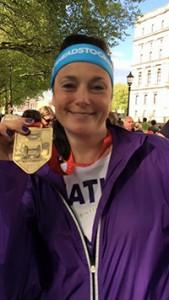 Heather at London Marathon